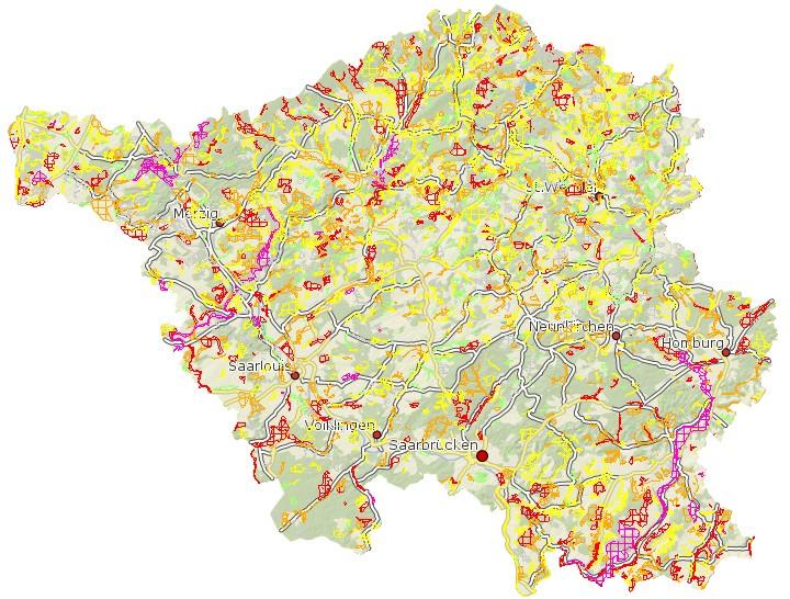 Arten- und Biotopschutzprogramm Saarland - Kernflächen