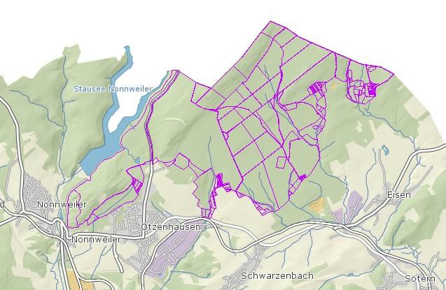 Nationalpark Hunsrück-Hochwald Flurstuecke