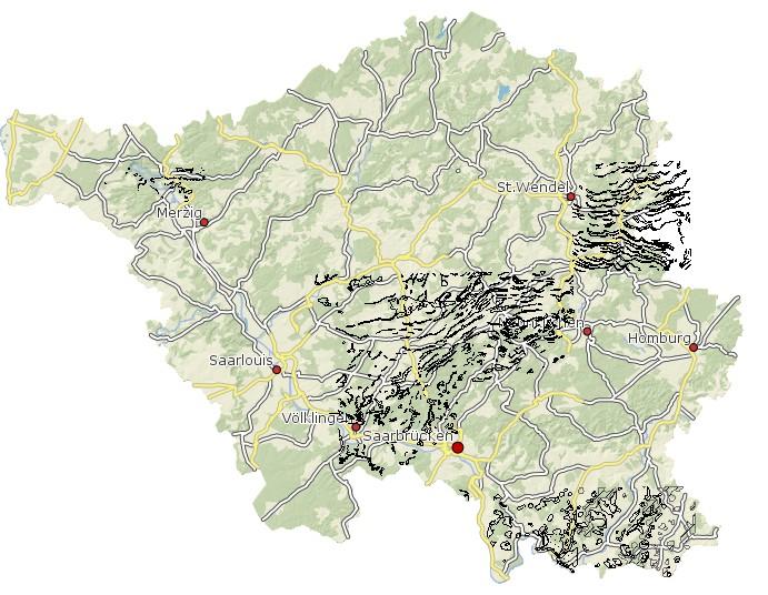 Geologische Karte 1:25 000 Petrographie