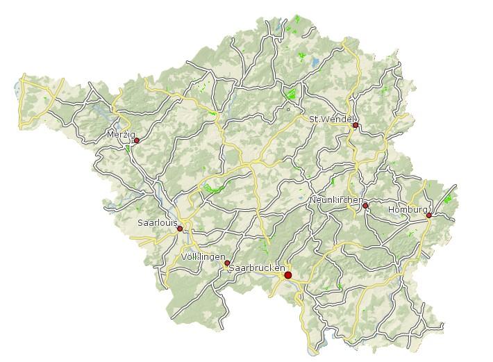 Ökokontoteilflächen des Saarlandes