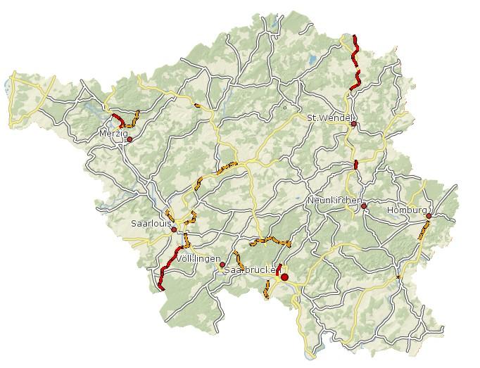 LEP Umwelt 2004 Trassenbereiche für Strassen