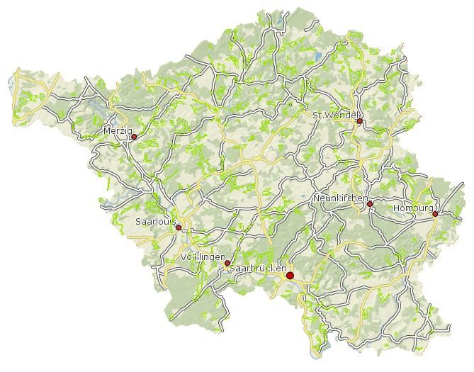 LEP Umwelt 2004 Vorranggebiete für Freiraumschutz