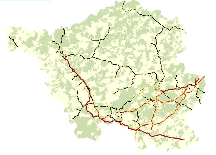 Gashochdruckleitungen im Saarland
