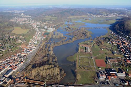 Hochwassergefahren- und Hochwasserrisikokarten im Saarland
