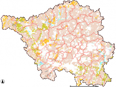 Karte der Standorttypisierung und des Biotopentwicklungspotenzials der Böden