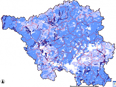 Karte der Feldkapazität der Böden