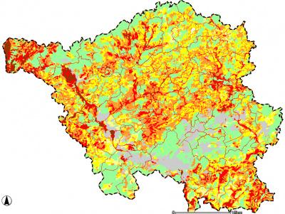Karte des natürlichen Ertragspotenzials